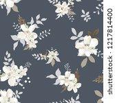 seamless floral pattern....   Shutterstock .eps vector #1217814400