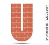 vector illustration letter u in ... | Shutterstock .eps vector #121781494