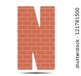 vector illustration letter n in ... | Shutterstock .eps vector #121781500