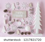 white christmas decoration ... | Shutterstock . vector #1217821720