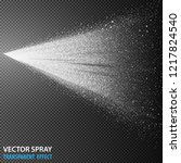 tansparent water spray cosmetic ... | Shutterstock .eps vector #1217824540