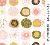 trendy seamless pattern of... | Shutterstock .eps vector #1217827159