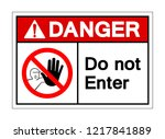 danger do not enter symbol sign ... | Shutterstock .eps vector #1217841889