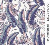 vector seamless pattern of... | Shutterstock .eps vector #1217844700