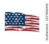 textured flag of united states. ... | Shutterstock .eps vector #1217846443