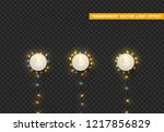 christmas lights  realistic... | Shutterstock .eps vector #1217856829