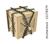 Locked Wooden Crate