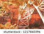 autumn fall bridge | Shutterstock . vector #1217860396
