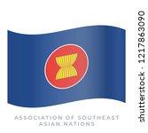 association of southeast asian... | Shutterstock .eps vector #1217863090