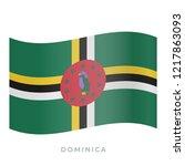 dominica waving flag vector... | Shutterstock .eps vector #1217863093