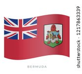 bermuda waving flag vector icon.... | Shutterstock .eps vector #1217863339