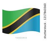 tanzania waving flag vector... | Shutterstock .eps vector #1217863360