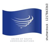 union of south american nations ...   Shutterstock .eps vector #1217863363