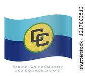 caribbean community and common... | Shutterstock .eps vector #1217863513