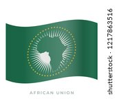 african union waving flag... | Shutterstock .eps vector #1217863516