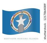 northern mariana islands waving ... | Shutterstock .eps vector #1217864089
