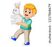 vector illustration of happy...   Shutterstock .eps vector #1217868679