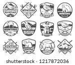 hunter club or open season... | Shutterstock .eps vector #1217872036