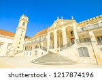 university of coimbra  the most ... | Shutterstock . vector #1217874196