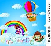 happy children's day poster...   Shutterstock . vector #1217878303