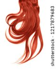 red hair  isolated on white... | Shutterstock . vector #1217879683