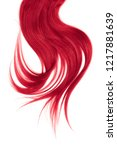 pink hair  isolated on white... | Shutterstock . vector #1217881639