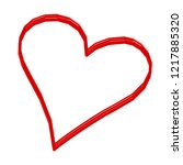 heart vector. hand drawn icon.... | Shutterstock .eps vector #1217885320