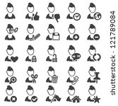 set of avatar icons   silhouette | Shutterstock .eps vector #121789084