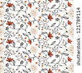 vivid repeating floral   for... | Shutterstock . vector #121789114