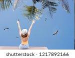women tourists liberated kason... | Shutterstock . vector #1217892166