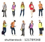 group of smiling teenagers... | Shutterstock . vector #121789348