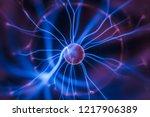 close up of plasma globe   Shutterstock . vector #1217906389