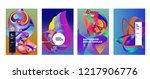 vector abstract colorful...   Shutterstock .eps vector #1217906776
