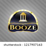 gold shiny emblem with bank... | Shutterstock .eps vector #1217907163