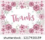 thanks vector pink and burgundy ... | Shutterstock .eps vector #1217920159