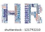 human resource word cloud in... | Shutterstock . vector #121792210
