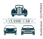 front view classic car logo... | Shutterstock .eps vector #1217924023