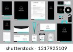 simple professional corporate... | Shutterstock .eps vector #1217925109