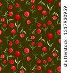 seamless endless hand painting...   Shutterstock . vector #1217930959