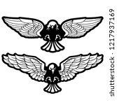 bird of prey attacks vector...   Shutterstock .eps vector #1217937169