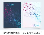 scientific brochure design... | Shutterstock .eps vector #1217946163