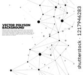 network connecting dot polygon... | Shutterstock .eps vector #1217946283