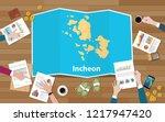 incheon south korea city region ... | Shutterstock .eps vector #1217947420