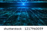 abstract digital matrix... | Shutterstock . vector #1217960059