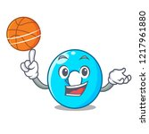 with basketball the number zero ... | Shutterstock .eps vector #1217961880