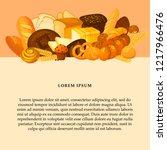 bread banner for bakery and... | Shutterstock .eps vector #1217966476