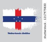 brush style color flag of... | Shutterstock .eps vector #1217975830