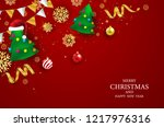 merry christmas and happy new... | Shutterstock .eps vector #1217976316