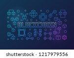 blockchain crypto vector bright ...   Shutterstock .eps vector #1217979556