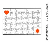 abstract rectangular maze. game ... | Shutterstock .eps vector #1217982526